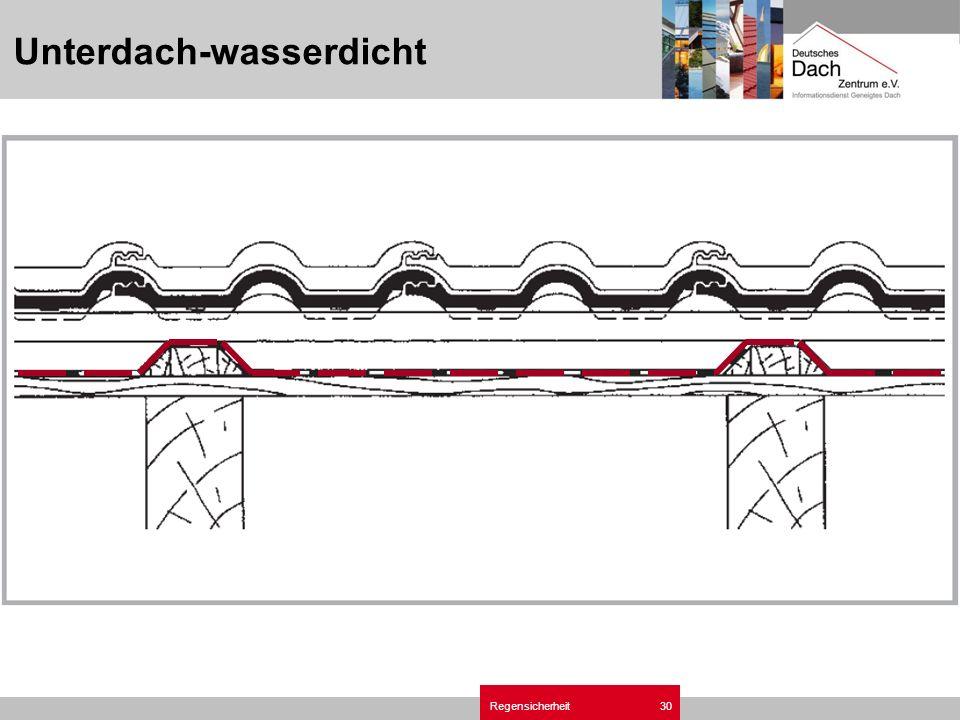 Regensicherheit30 Unterdach-wasserdicht