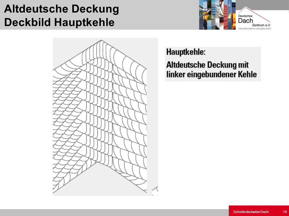 Schieferdeckarten Dach 19 Altdeutsche Deckung Deckbild Hauptkehle
