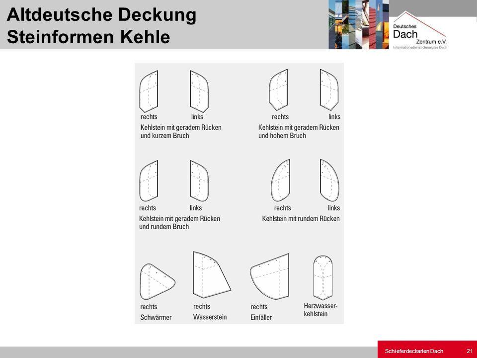 Schieferdeckarten Dach 21 Altdeutsche Deckung Steinformen Kehle
