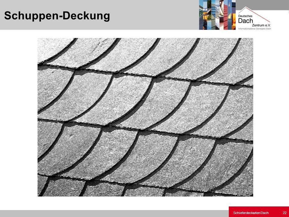 Schieferdeckarten Dach 22 Schuppen-Deckung