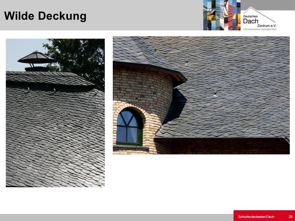 Schieferdeckarten Dach 28 Wilde Deckung