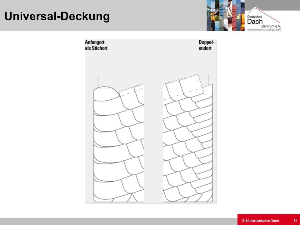 Schieferdeckarten Dach 34 Universal-Deckung