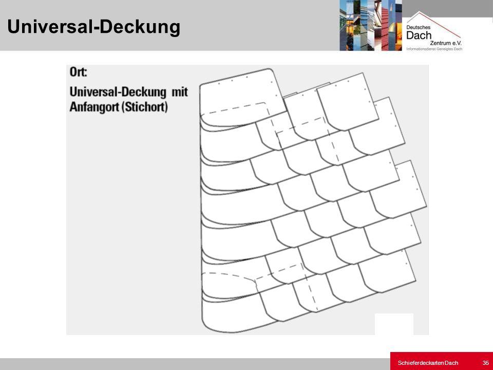 Schieferdeckarten Dach 35 Universal-Deckung