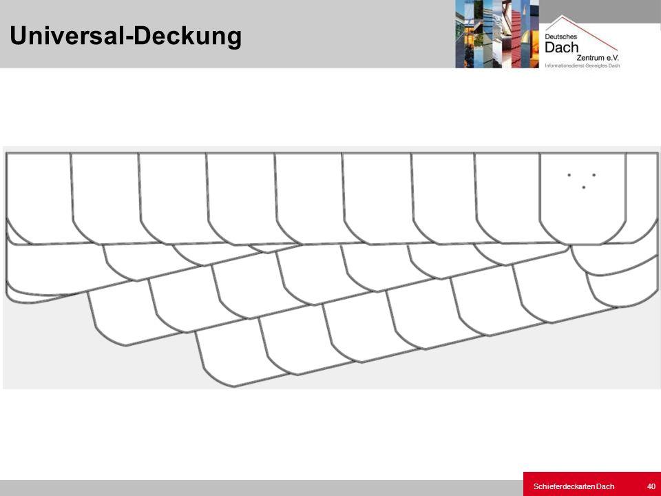 Schieferdeckarten Dach 40 Universal-Deckung