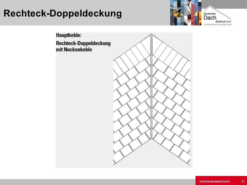 Schieferdeckarten Dach 51 Rechteck-Doppeldeckung