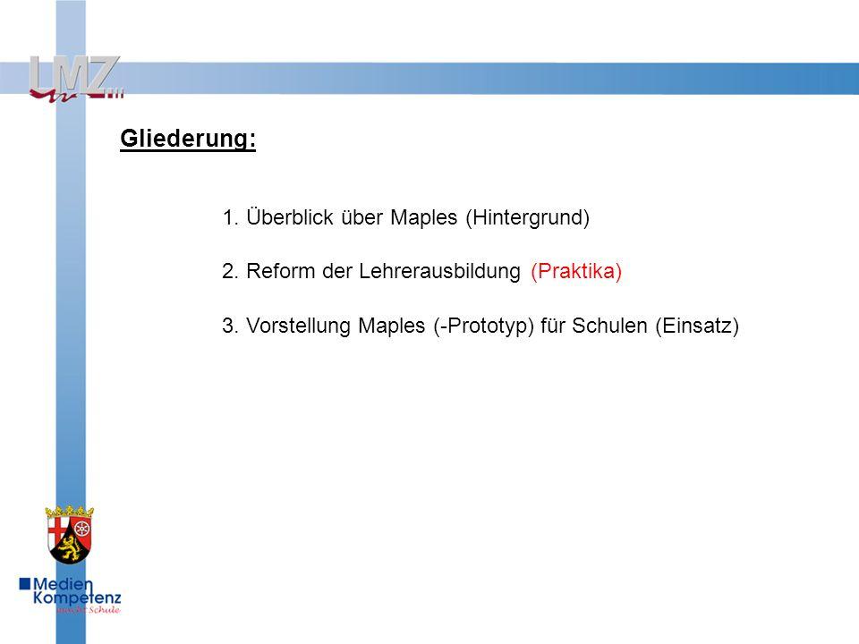 3.Vorstellung Maples (-Prototyp) für Schulen Allg.