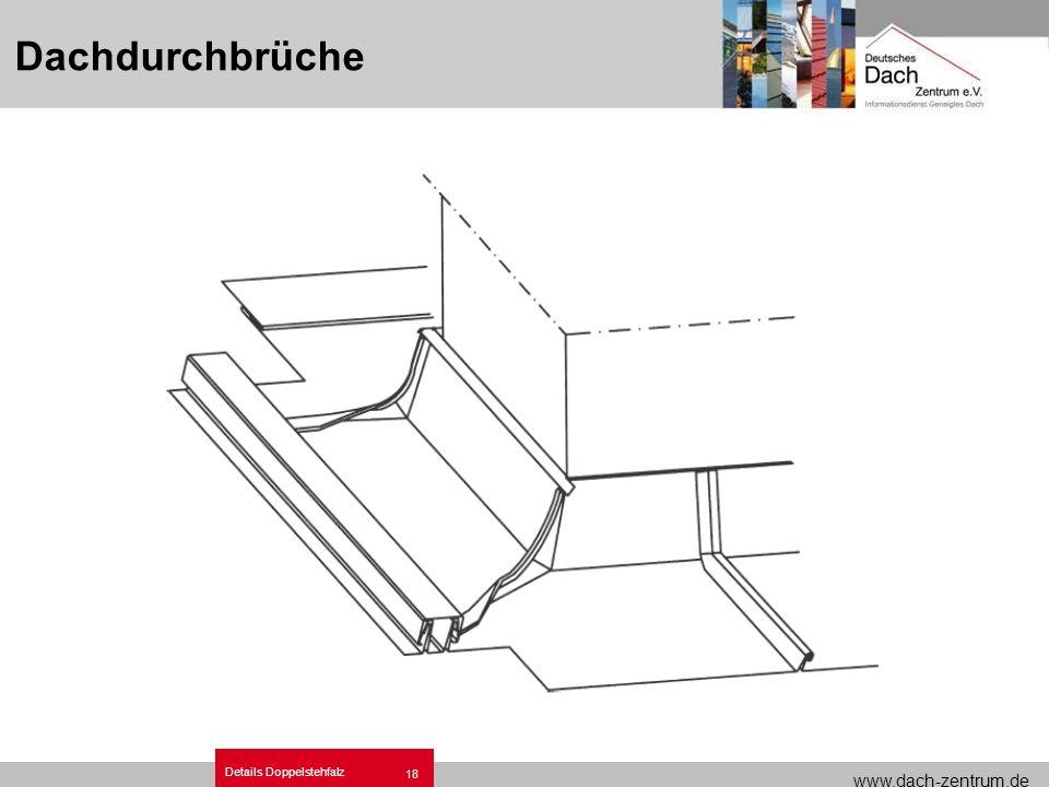 www.dach-zentrum.de Details Doppelstehfalz 18 Dachdurchbrüche