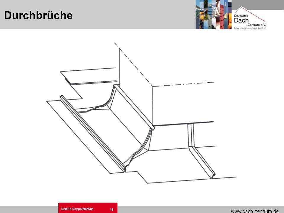 www.dach-zentrum.de Details Doppelstehfalz 19 Durchbrüche