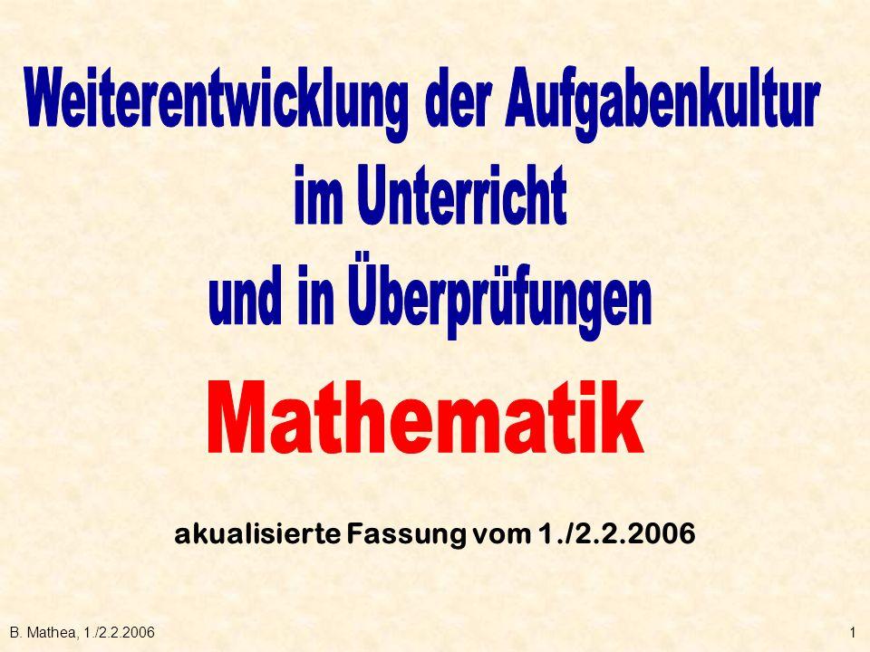 B. Mathea, 1./2.2.20061 akualisierte Fassung vom 1./2.2.2006