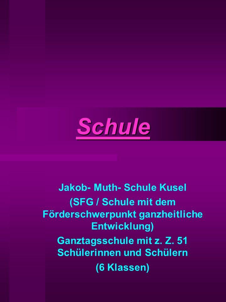 Schule Jakob- Muth- Schule Kusel (SFG / Schule mit dem Förderschwerpunkt ganzheitliche Entwicklung) Ganztagsschule mit z.
