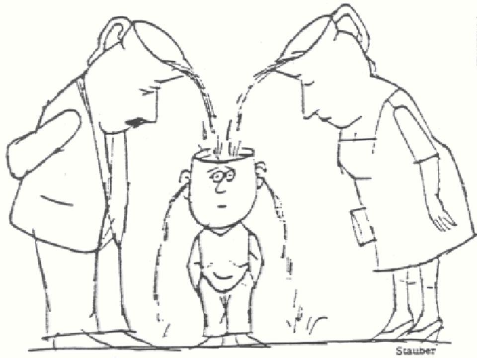Diese fragwürdig gewordenen Selbstverständlichkeiten sind: die Annahme, dass es die beste aller Voraussetzungen für das eigene Lernen sei, jemanden gefunden zu haben, der einen (be)lehrt (Lehr-Lernillusion sensu Holzkamp), die Annahme, dass man selbst wenig bzw.