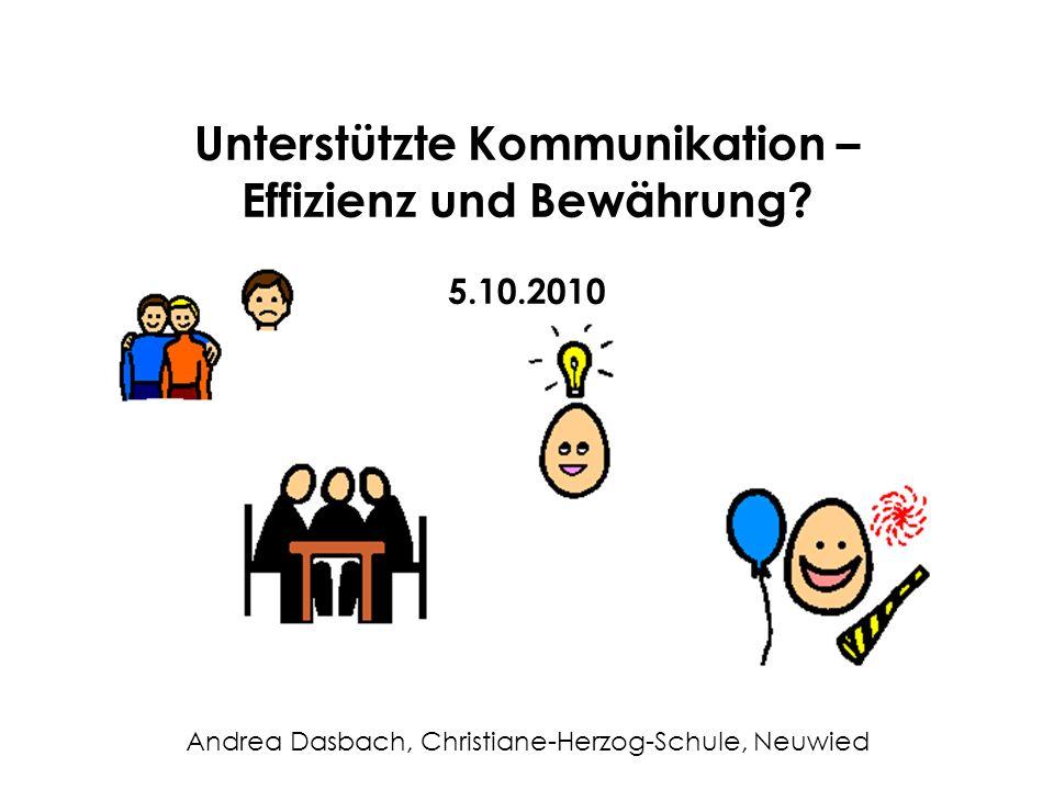 Unterstützte Kommunikation – Effizienz und Bewährung.