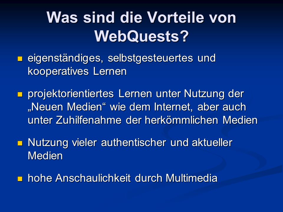 Unterrichtsbeispiel Englisch Stufe 9 When you have finished your research: Try to assess and evaluate the different websites you have visited: Was the information on this website well-structured.