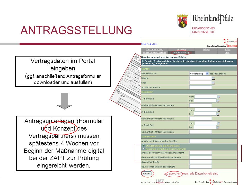 Folie 21 Vertragsdaten im Portal eingeben ( ggf.