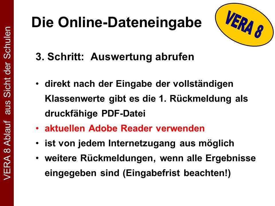 Die Online-Dateneingabe 3.