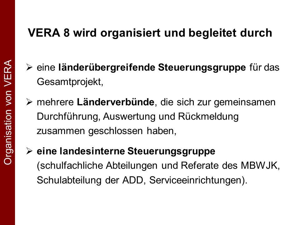 VERA 8 Ablauf aus Sicht der Schulen Hinweise zur Planung, Vorbereitung & Durchführung von VERA 8