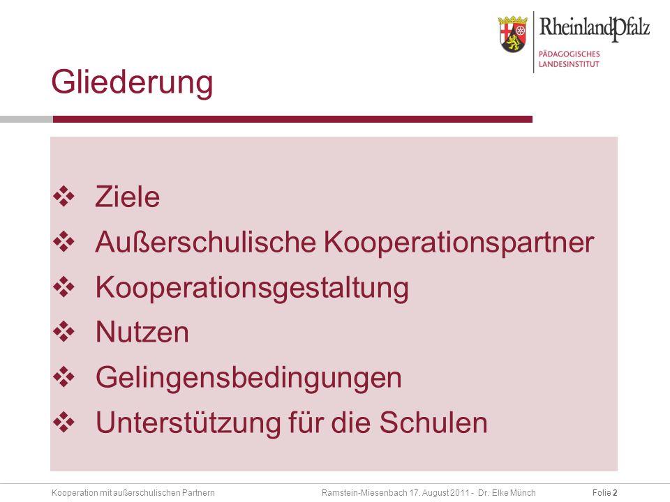 Folie 2Kooperation mit außerschulischen Partnern Ramstein-Miesenbach 17.
