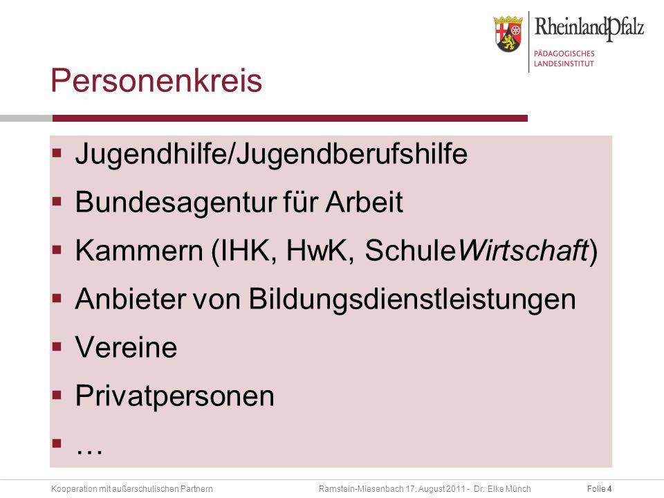 Folie 4Kooperation mit außerschulischen Partnern Ramstein-Miesenbach 17.
