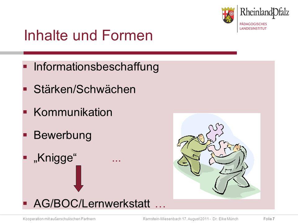 Folie 7Kooperation mit außerschulischen Partnern Ramstein-Miesenbach 17.