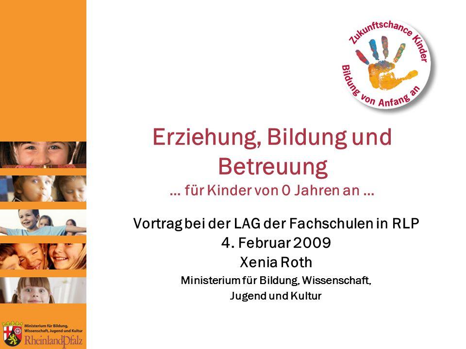 Erziehung, Bildung und Betreuung … für Kinder von 0 Jahren an … Vortrag bei der LAG der Fachschulen in RLP 4.