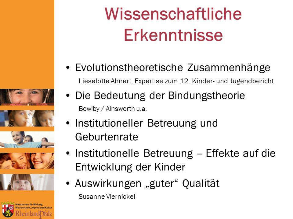 Wissenschaftliche Erkenntnisse Evolutionstheoretische Zusammenhänge Lieselotte Ahnert, Expertise zum 12.