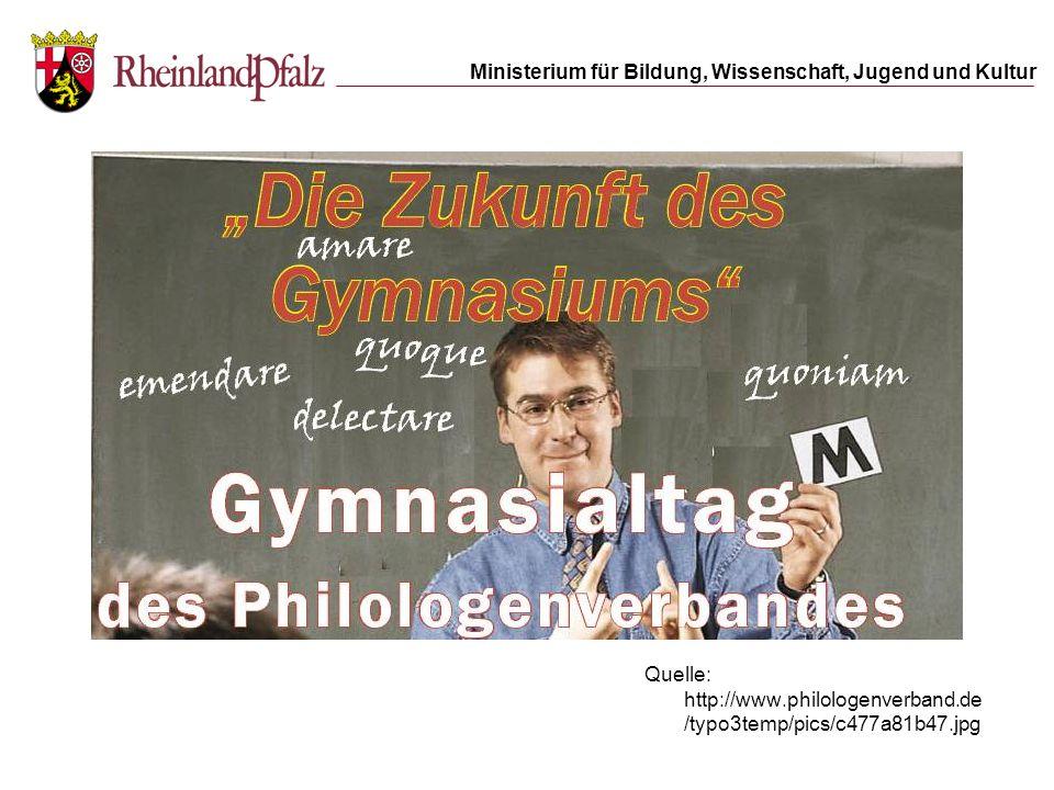 Ministerium für Bildung, Wissenschaft, Jugend und Kultur Quelle: http://www.philologenverband.de /typo3temp/pics/c477a81b47.jpg