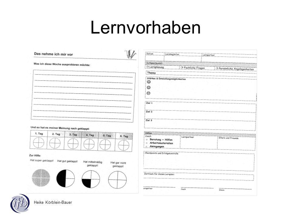 Heike Körblein-Bauer Lernvorhaben