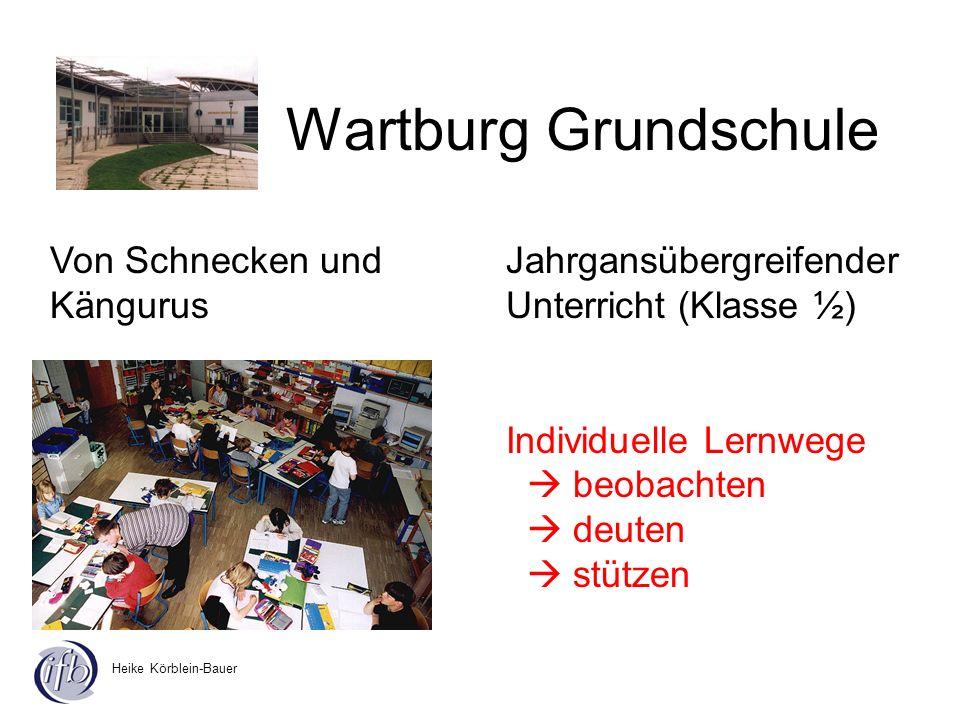 Heike Körblein-Bauer Wartburg Grundschule Jahrgansübergreifender Unterricht (Klasse ½) Individuelle Lernwege beobachten deuten stützen Von Schnecken u
