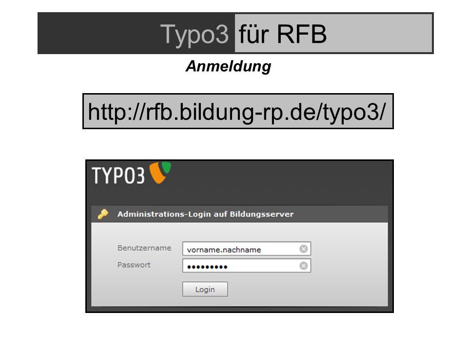 http://rfb.bildung-rp.de/typo3/ Typo3für RFB Anmeldung