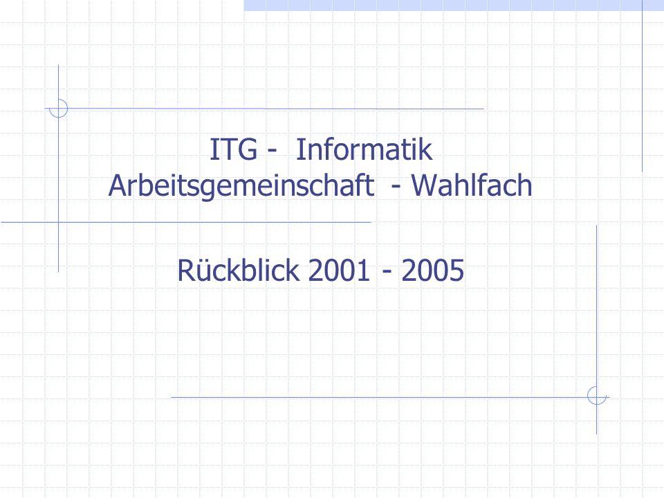 Angela Euteneuer, PZ ITG- Informatik Arbeitsgemeinschaft - Wahlfach ITG - Informatik Arbeitsgemeinschaft - Wahlfach 16.