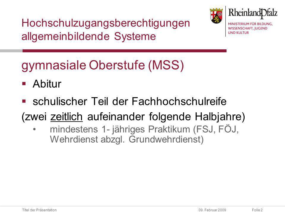 Folie 2Titel der Präsentation09.