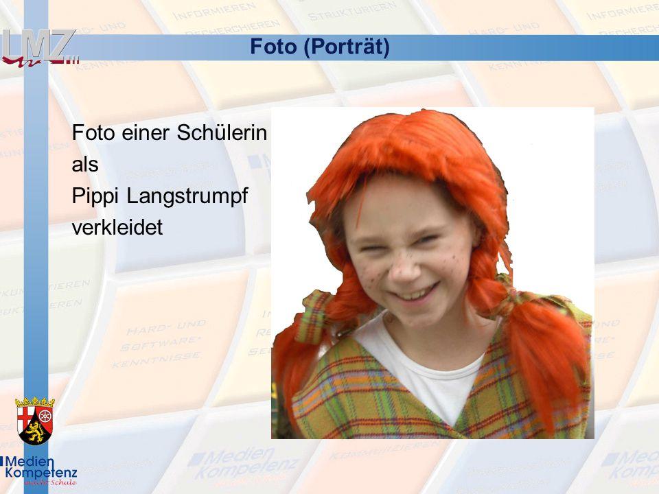 Foto (Porträt) Foto einer Schülerin als Pippi Langstrumpf verkleidet