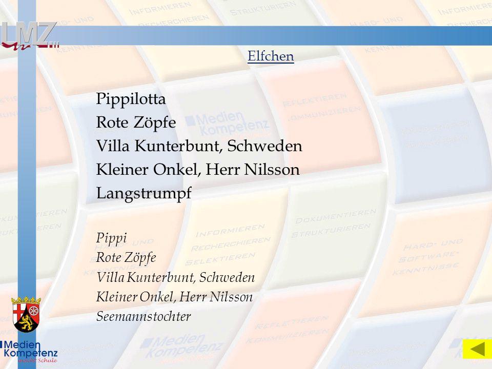 Elfchen Pippilotta Rote Zöpfe Villa Kunterbunt, Schweden Kleiner Onkel, Herr Nilsson Langstrumpf Pippi Rote Zöpfe Villa Kunterbunt, Schweden Kleiner O