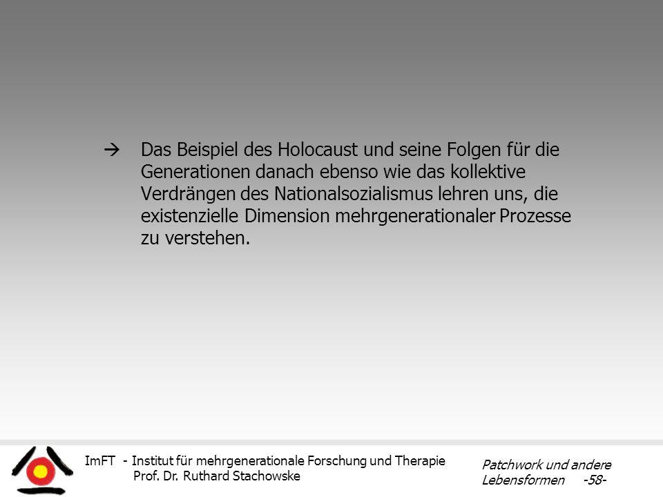 ImFT - Institut für mehrgenerationale Forschung und Therapie Prof. Dr. Ruthard Stachowske Patchwork und andere Lebensformen -58- Das Beispiel des Holo