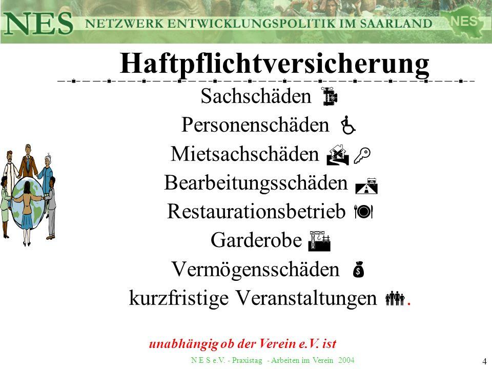 N E S e.V.- Praxistag - Arbeiten im Verein 2004 15 Weitere Informationen.