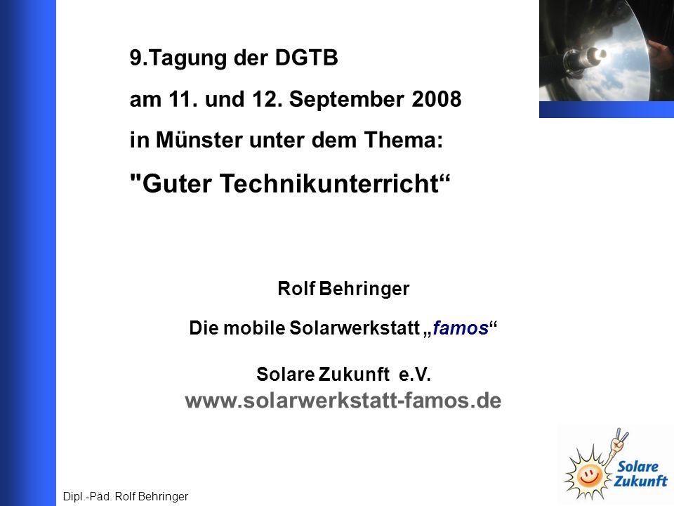 9.Tagung der DGTB am 11. und 12. September 2008 in Münster unter dem Thema: