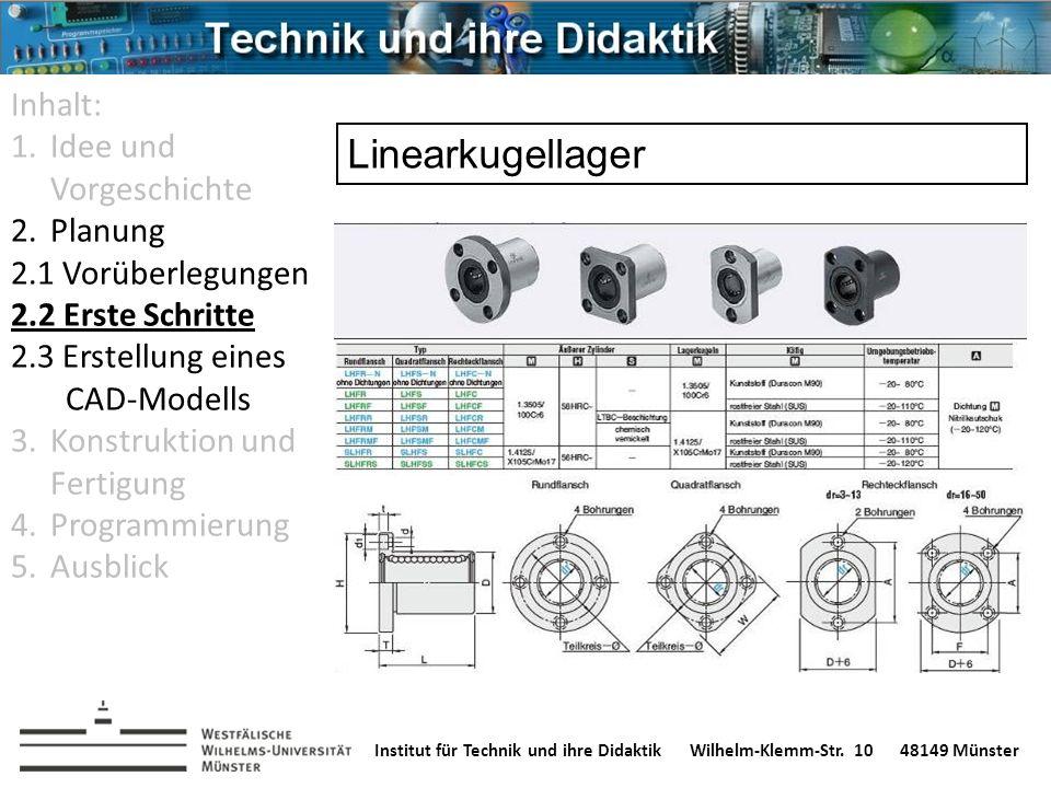 Institut für Technik und ihre DidaktikWilhelm-Klemm-Str. 1048149 Münster Inhalt: 1.Idee und Vorgeschichte 2.Planung 2.1 Vorüberlegungen 2.2 Erste Schr