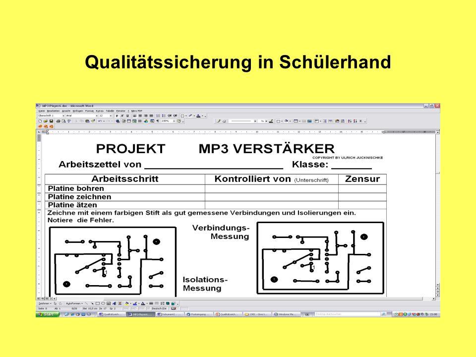 Qualitätssicherung in Schülerhand