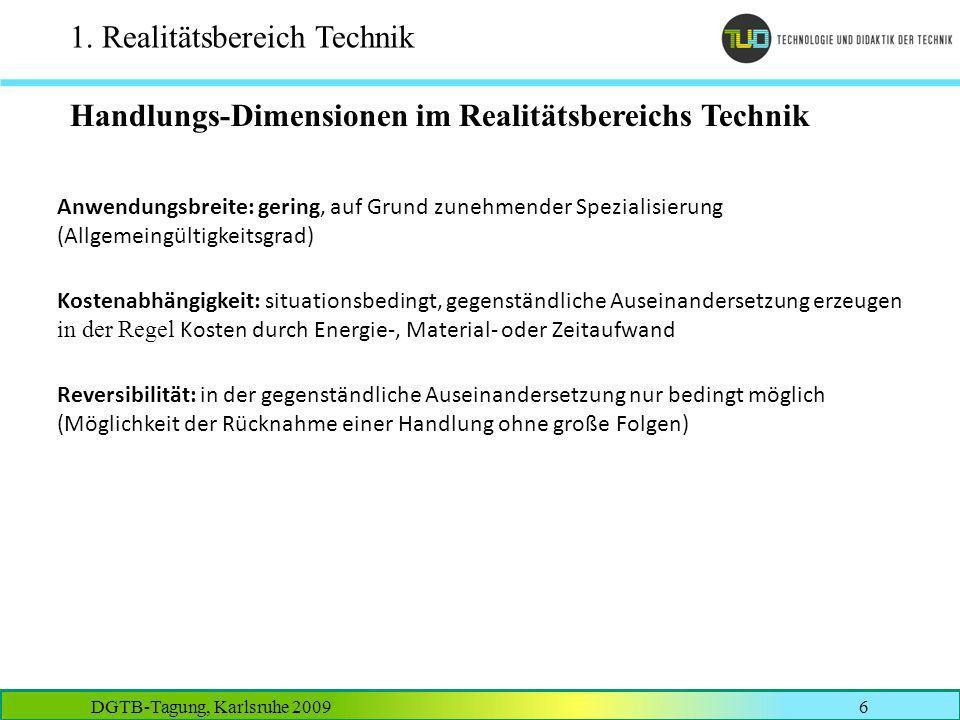 DGTB-Tagung, Karlsruhe 20097 2.