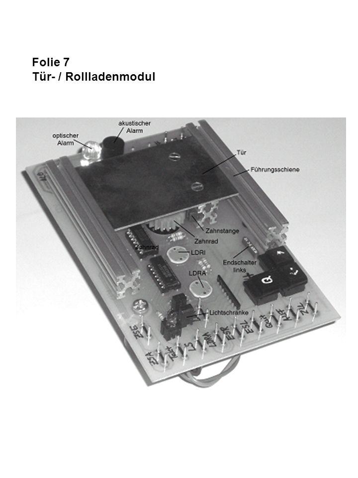Folie 8 Steuerungsaufgabe mit elementarelektronischer Lösung