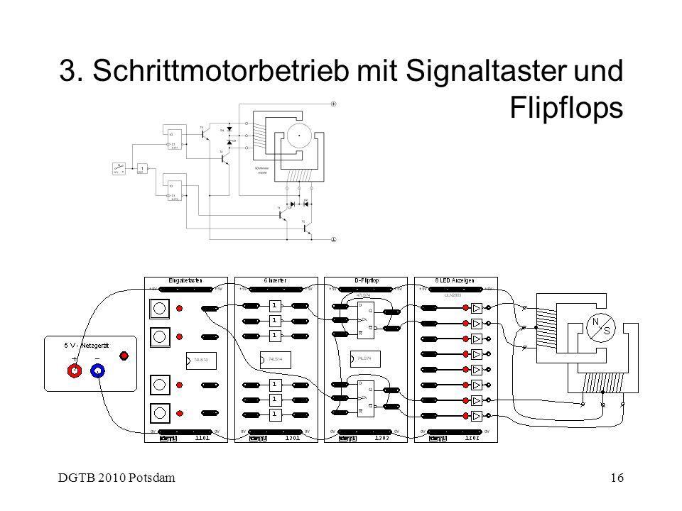 DGTB 2010 Potsdam16 3. Schrittmotorbetrieb mit Signaltaster und Flipflops