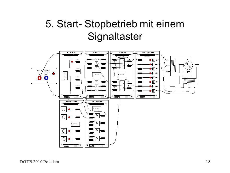 DGTB 2010 Potsdam18 5. Start- Stopbetrieb mit einem Signaltaster