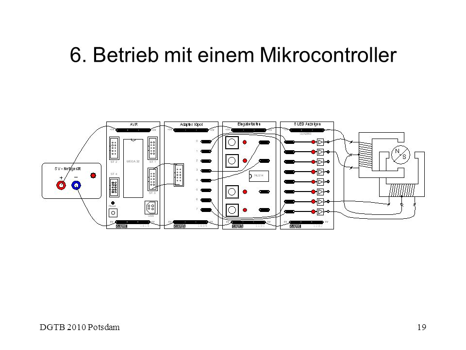 DGTB 2010 Potsdam19 6. Betrieb mit einem Mikrocontroller