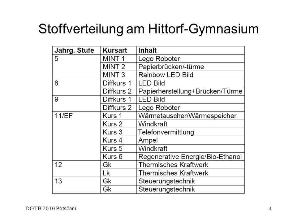 DGTB 2010 Potsdam4 Stoffverteilung am Hittorf-Gymnasium