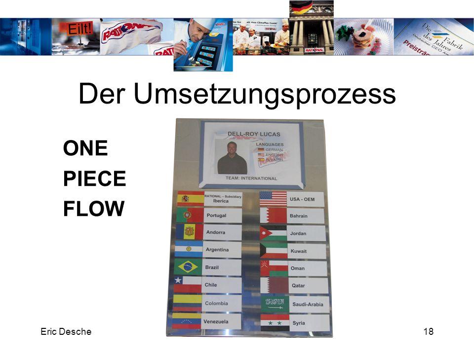 Eric DescheRATIONAL Technical Services18 Der Umsetzungsprozess ONE PIECE FLOW