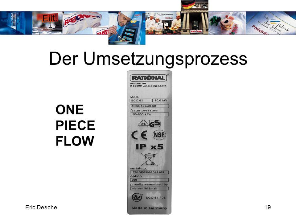 Eric Desche19 Der Umsetzungsprozess ONE PIECE FLOW