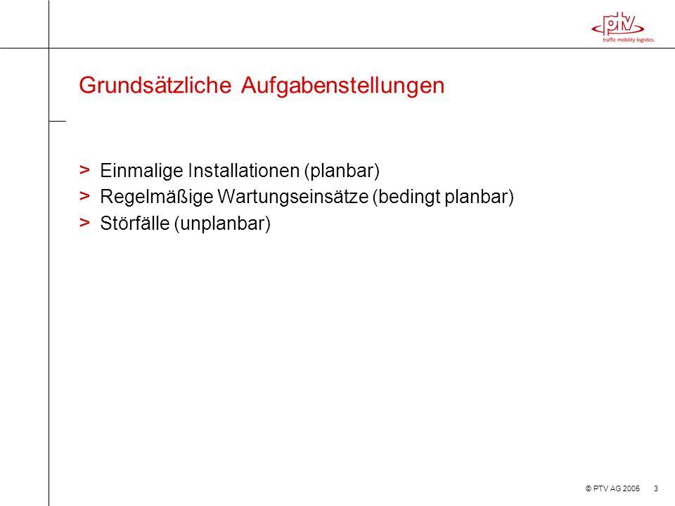 © PTV AG 2005 14 Prüfung (Masch.Daten, Verträge) Prüfung (Masch.