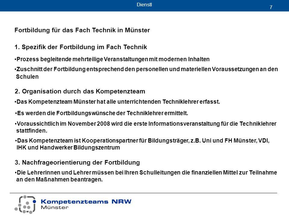 Dienstl 7 Fortbildung für das Fach Technik in Münster 2.