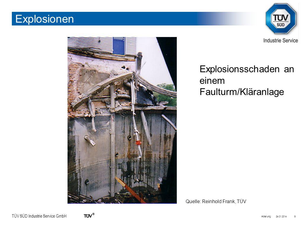 TÜV SÜD Industrie Service GmbH 24.01.2014Abteilung:10 Gülle-Schaden Quelle: Reinhold Frank, TÜV