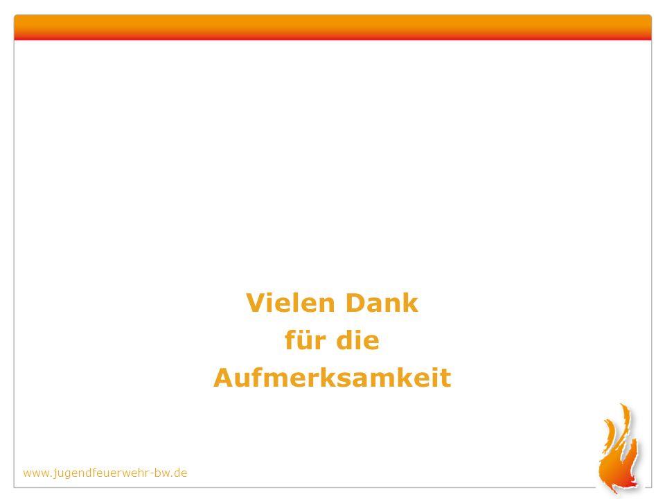 www.jugendfeuerwehr-bw.de Vielen Dank für die Aufmerksamkeit